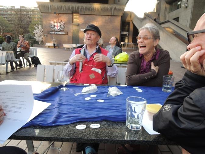 conversation at Barbican terrace evening April 2015