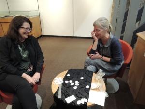 playing conversation at Barbican Library Saturday 18th April