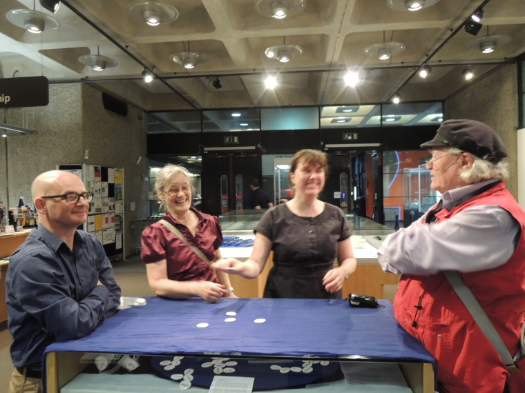 playing conversation in Barbican Library Tuesday 14th April
